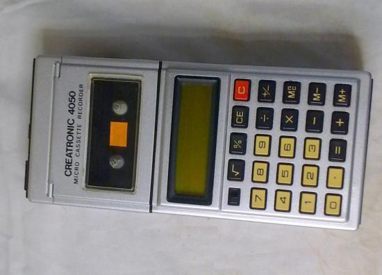 Dictaphone-Calculatrice CREATRONIC - Année 1975