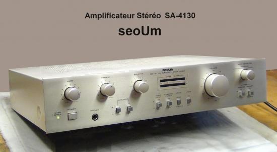 Amplificateur Stéréo SA-4130 seoUm - Année 1984