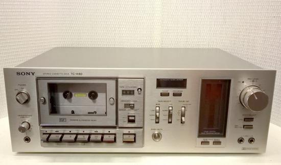 Cassette TC-K60 SONY -Année 1978