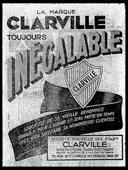 La marque clarville affiche